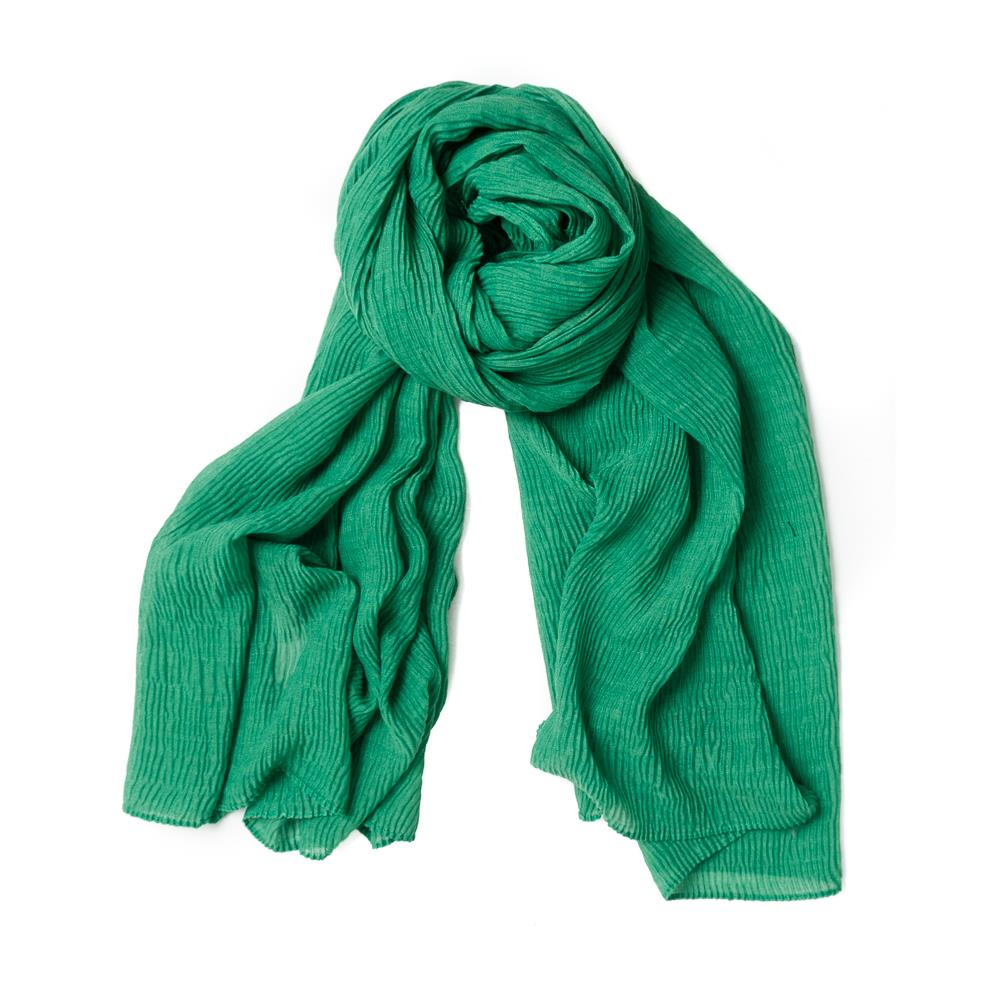 Scarf, viscose mix bright green