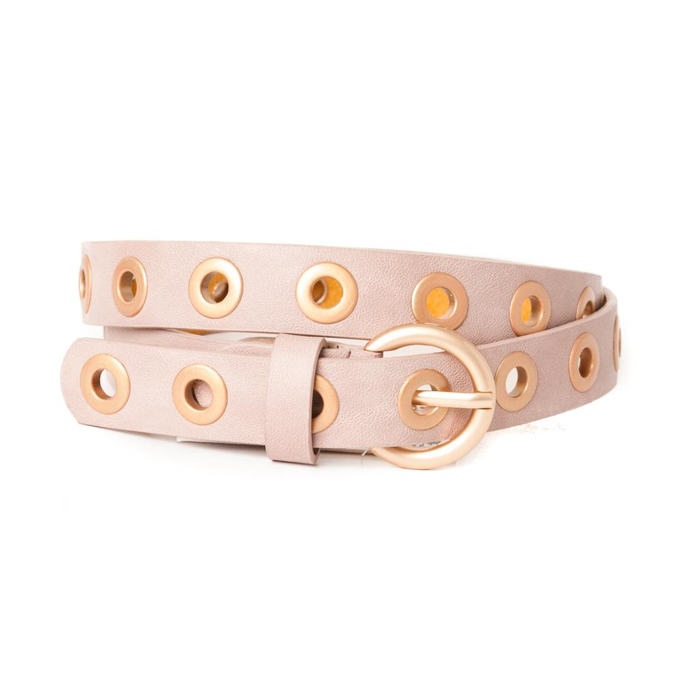 Belt, big sirkle dusty pink
