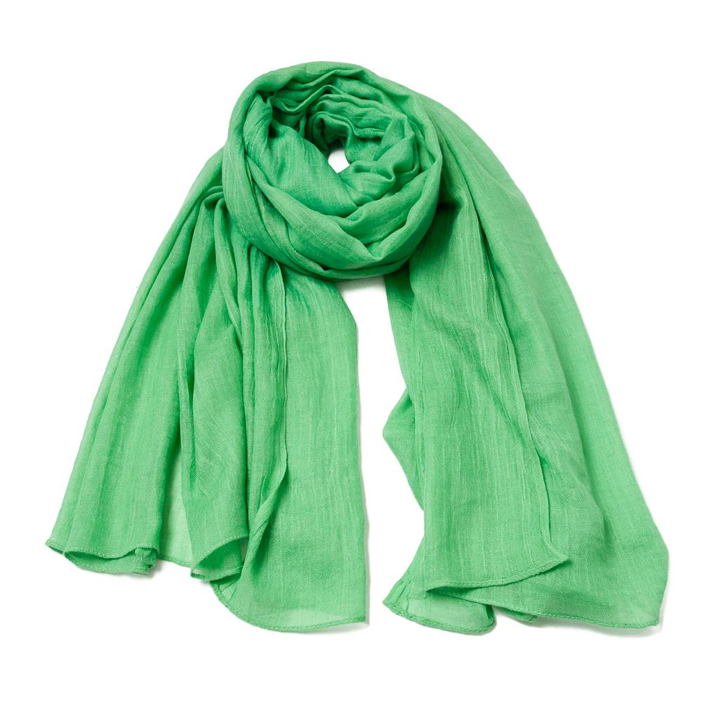 Skjerf, modal scarf solid color Bright green