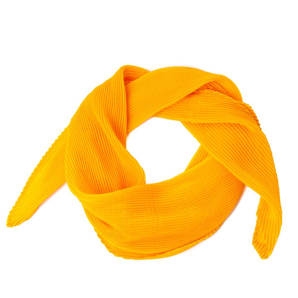 Scarf, small plizze scarf yellow