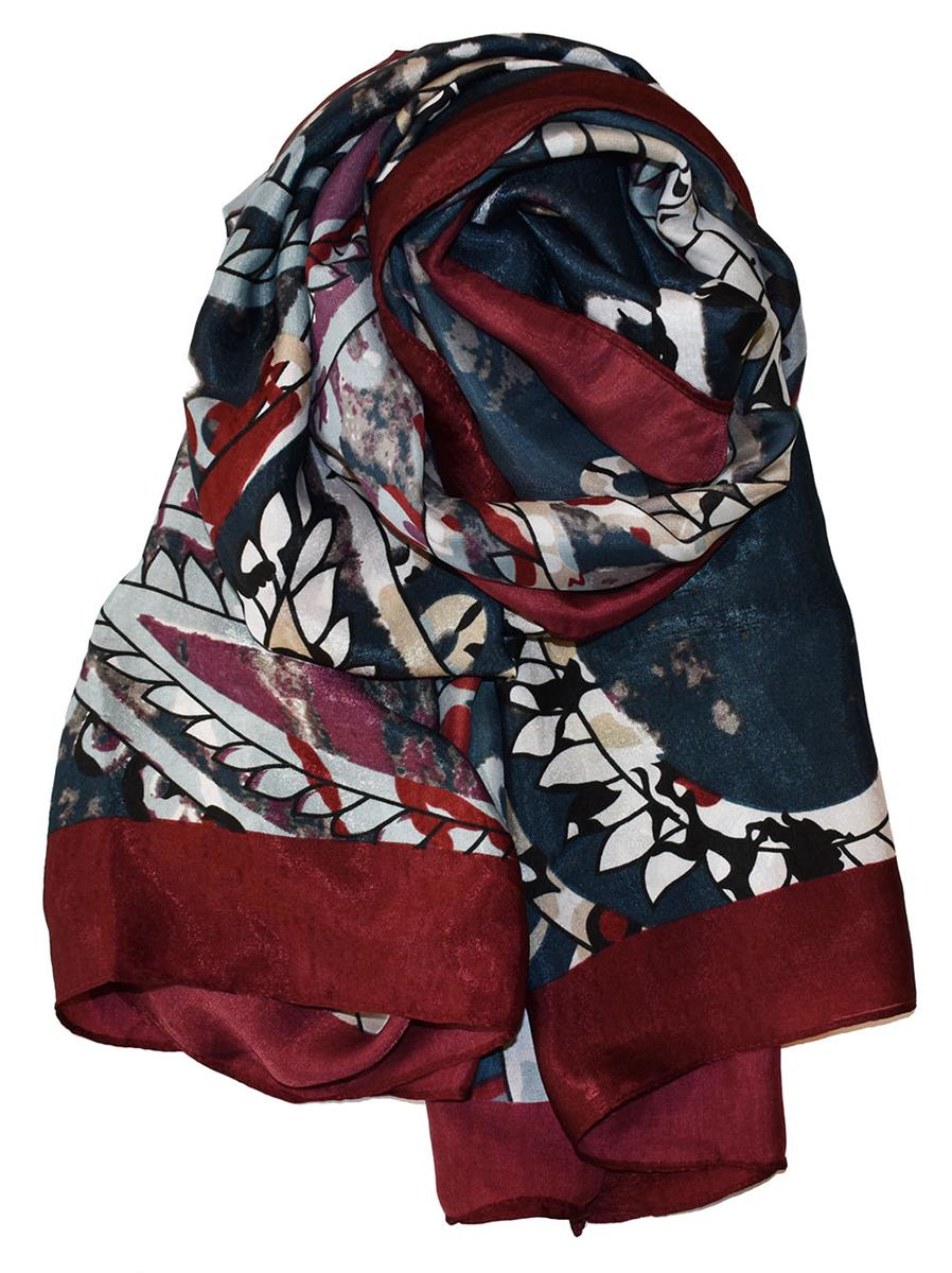 Scarf, heavy polyester flowerpaisley