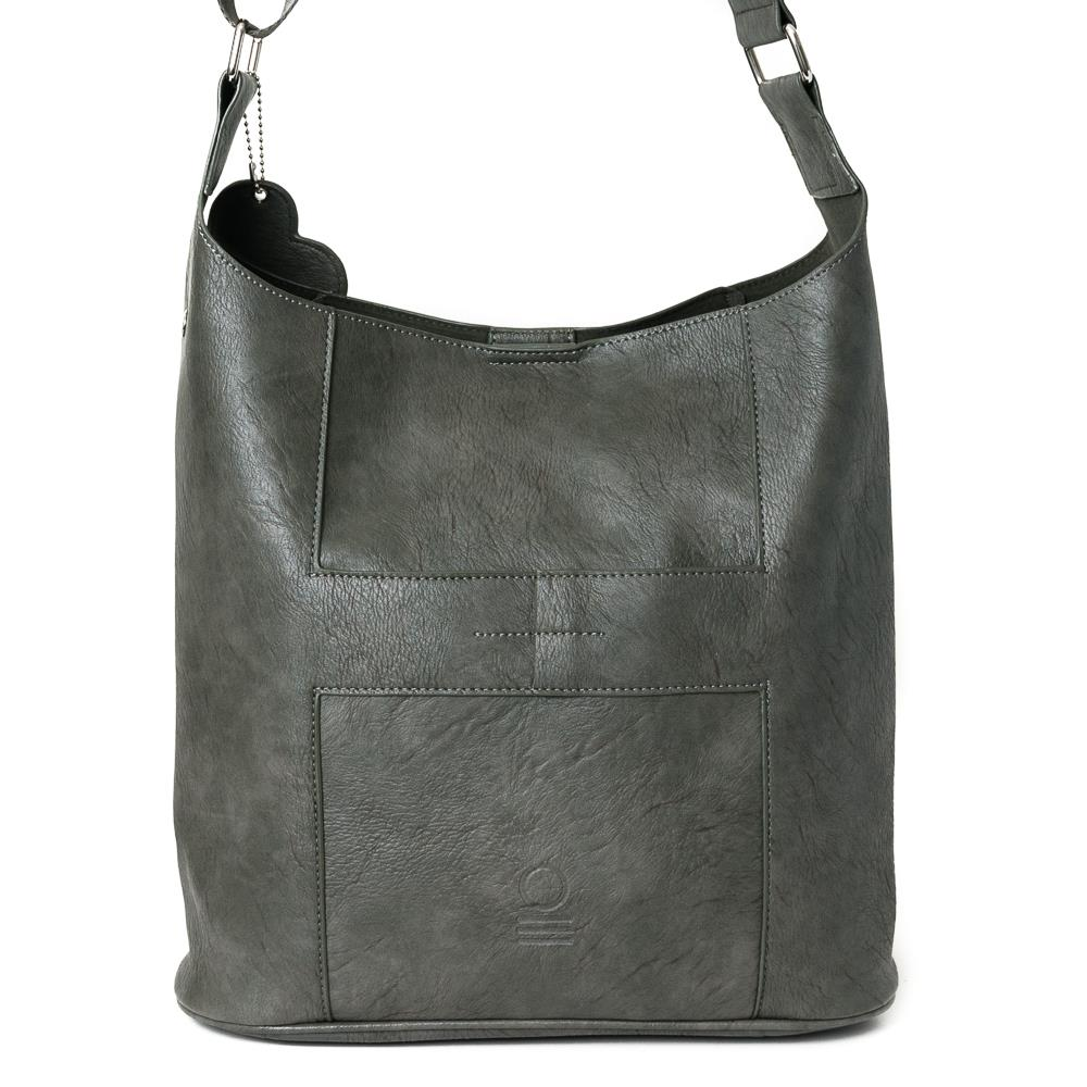 Bag, soft cross grey