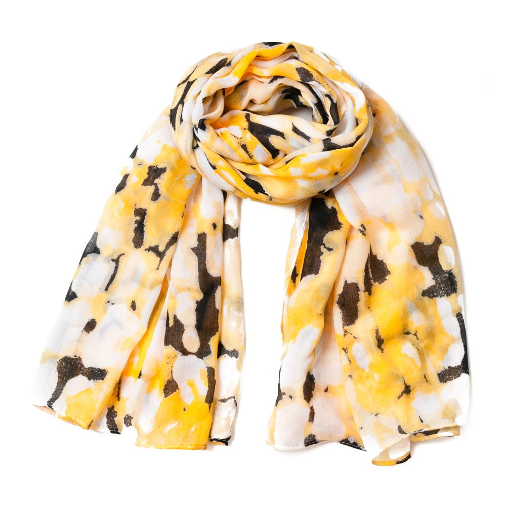 Scarf, multiprint yellow