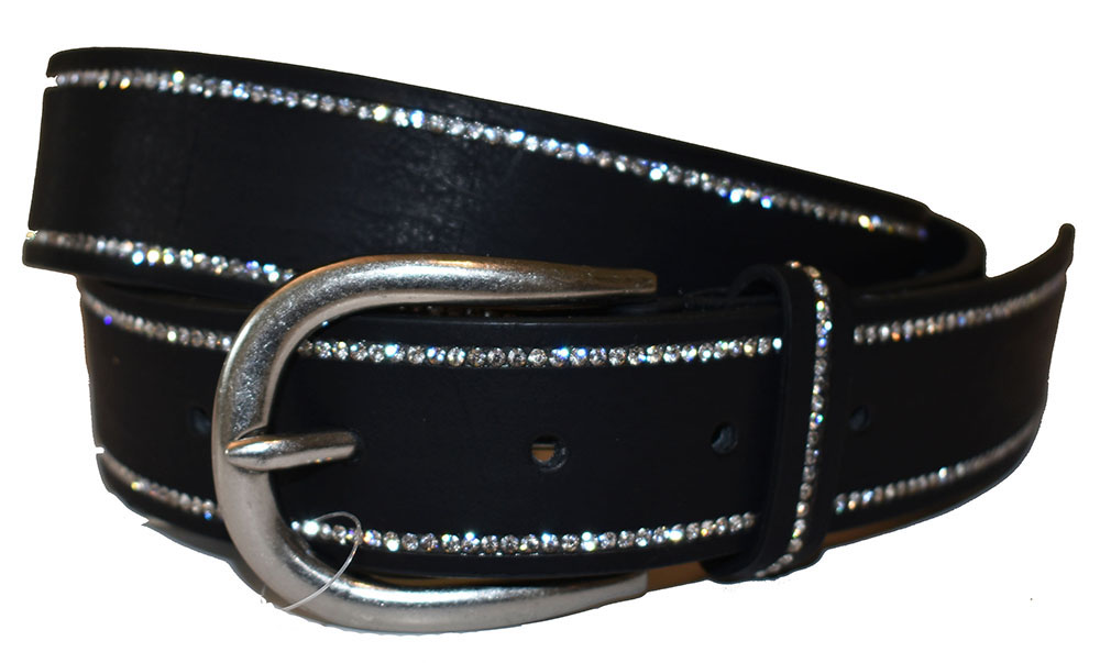 EXTRA LENGTH Belt, strass stone covered edge