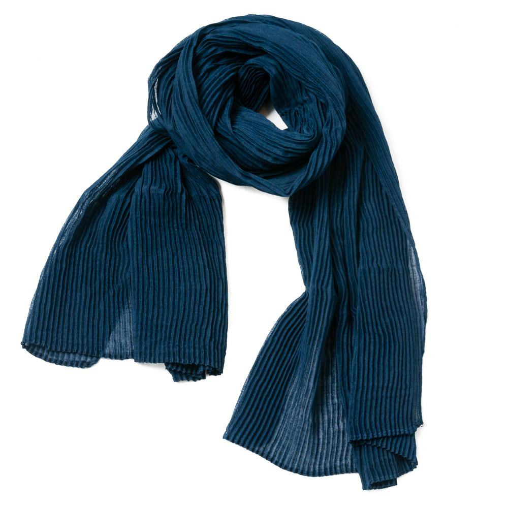 Scarf, exclusive plizze navy