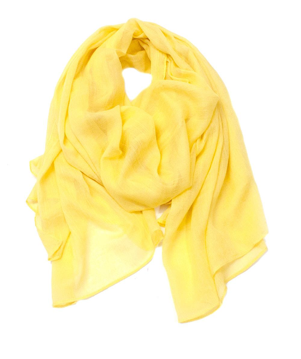 Scarf, Modal scarf solid color yellow