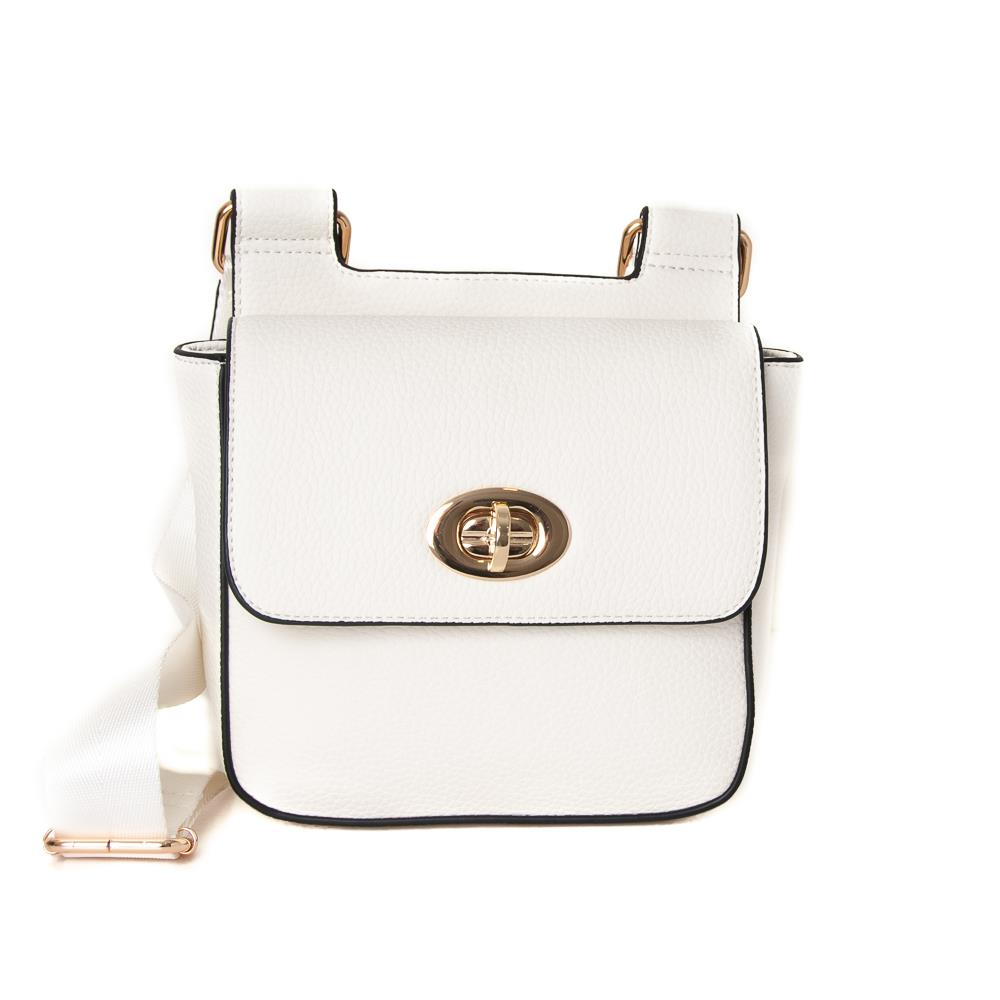Bag, Daisy clutch white