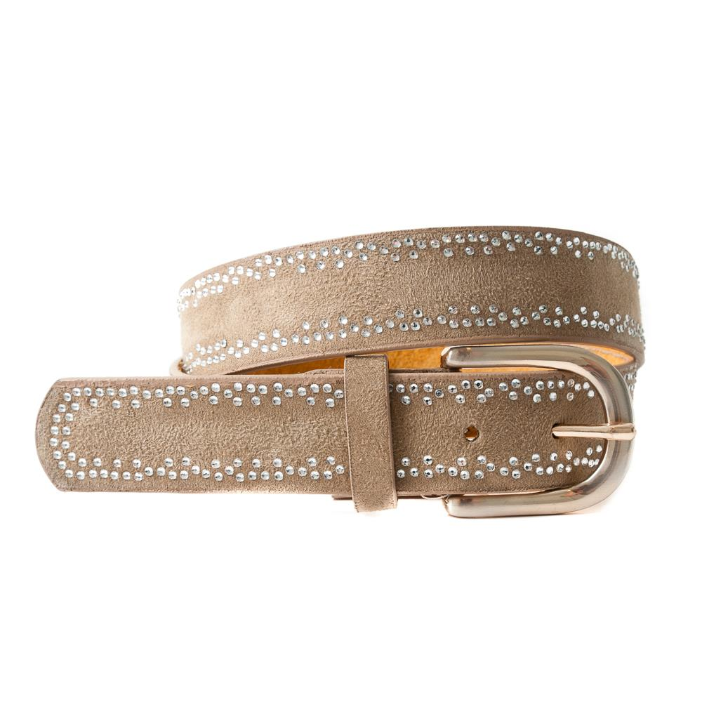 Belt, with trippel colored rivets beige