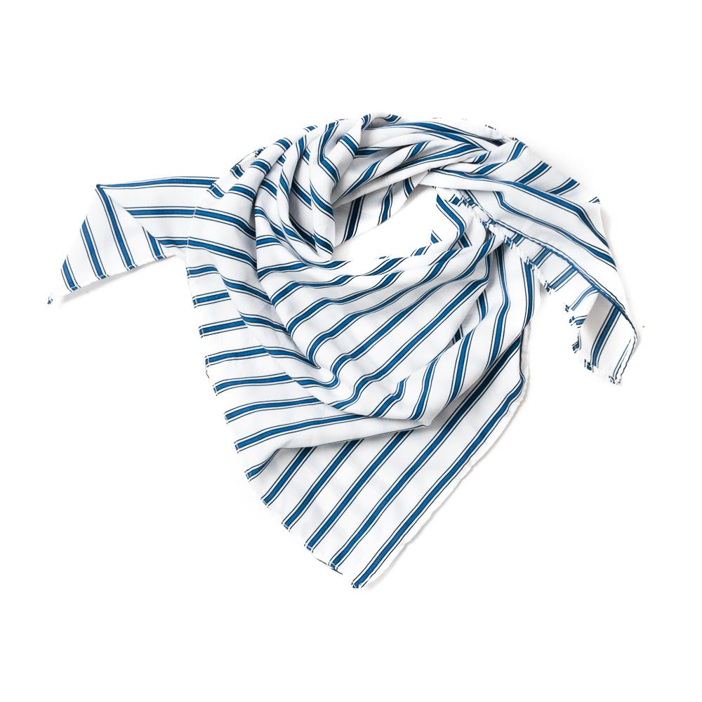 Scarf , small with stripes white