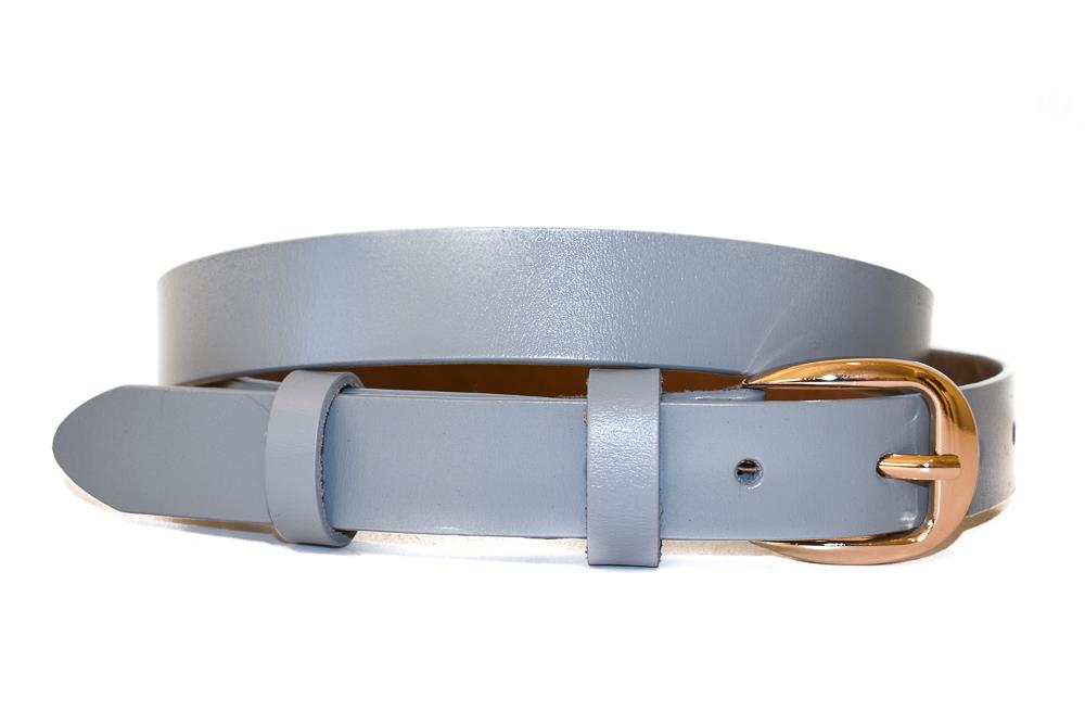 Belte PU/skinn gold colored buckle grey