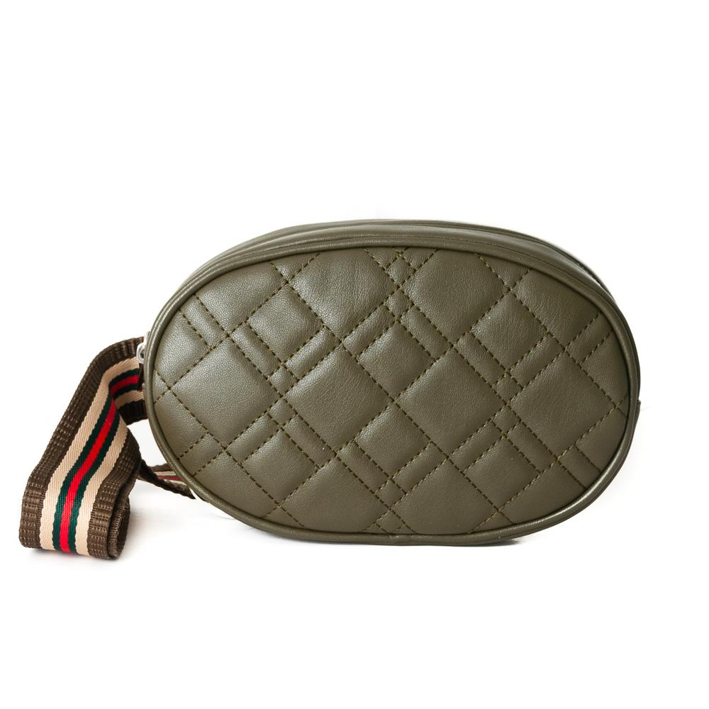 Bag, waffle stitches belt army green