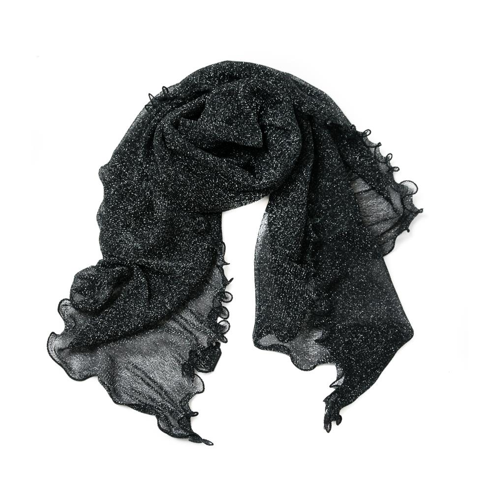 Scarf, party shawl volange black