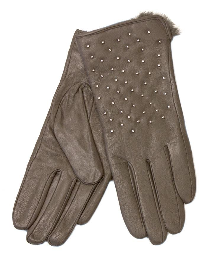 Gloves, Leather gloves w silver pearls