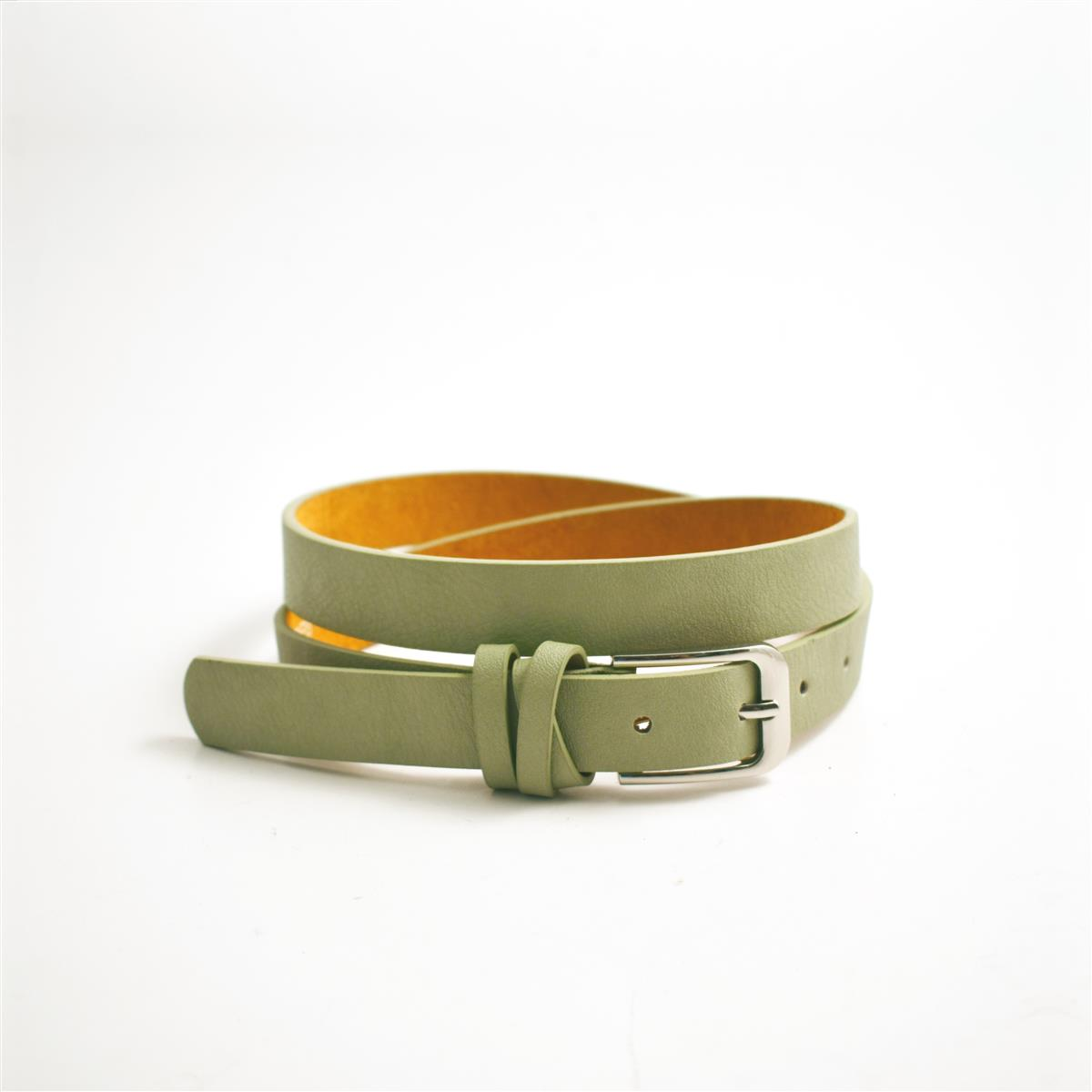 Belt, Soft loop buckle,lt green
