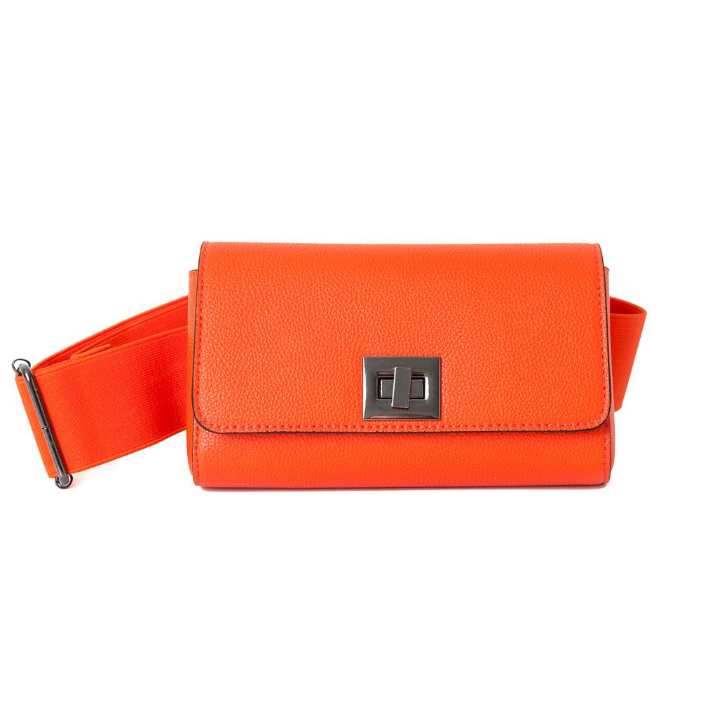 Bag, Dorothea elastic belt box orange/orange