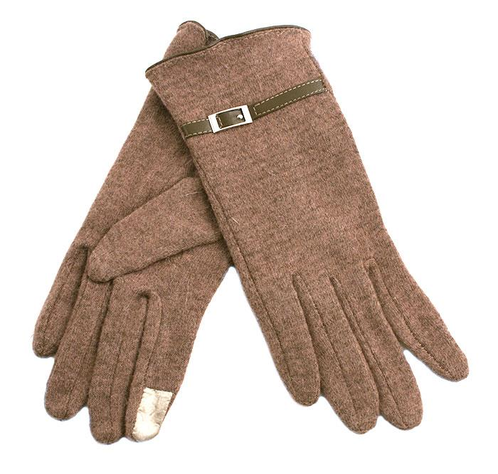 Gloves, Wool glove w touch finger and buckle