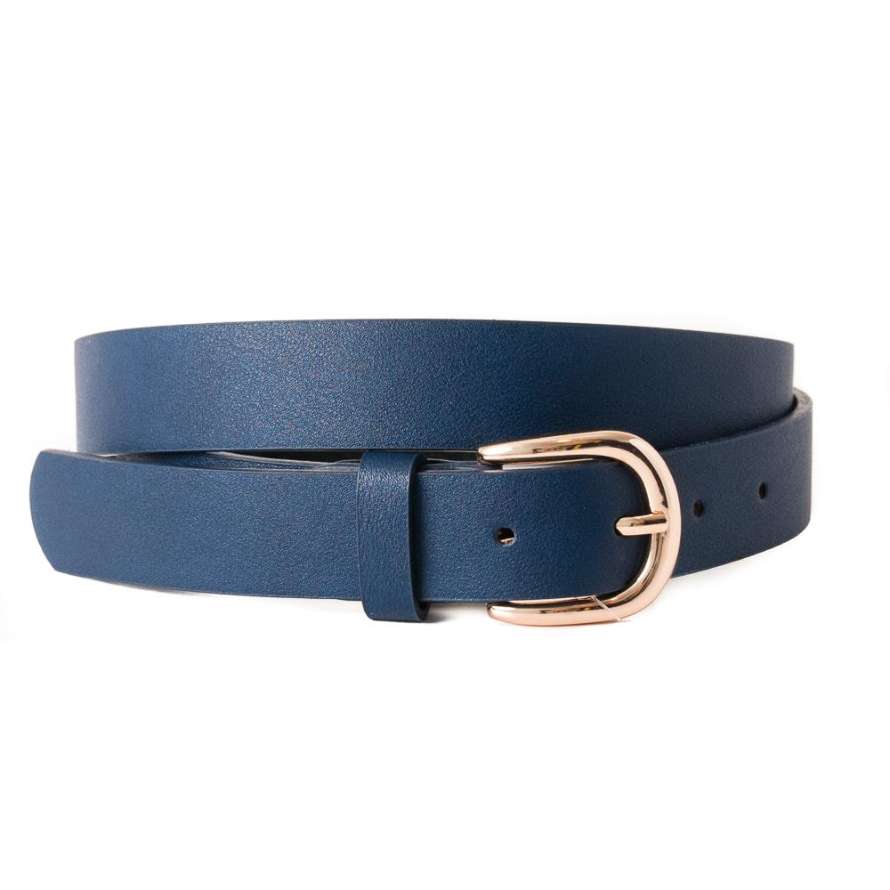 Belt, Plain with gold buckle navy