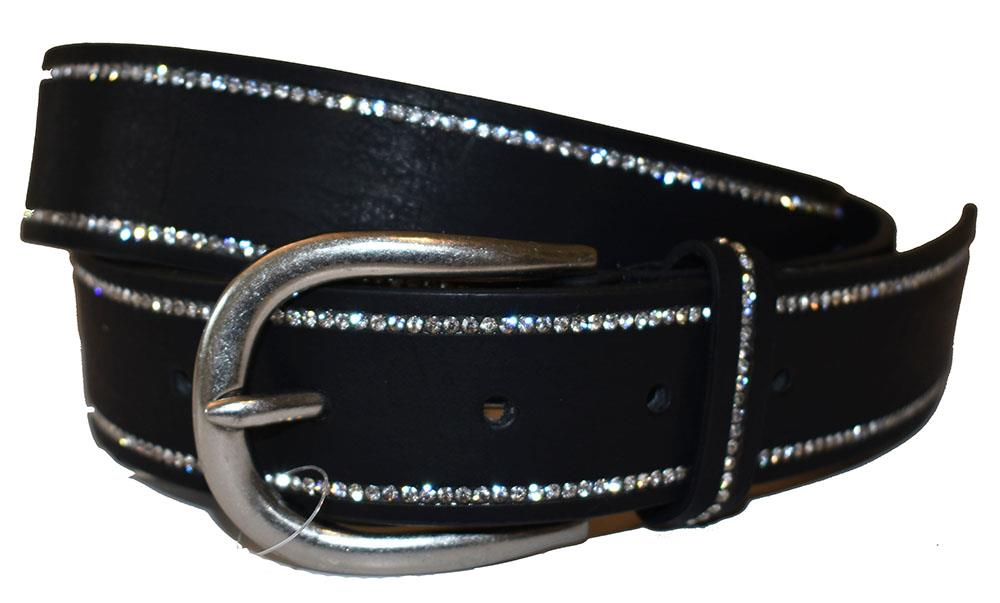 Belt, strass stone covered edge