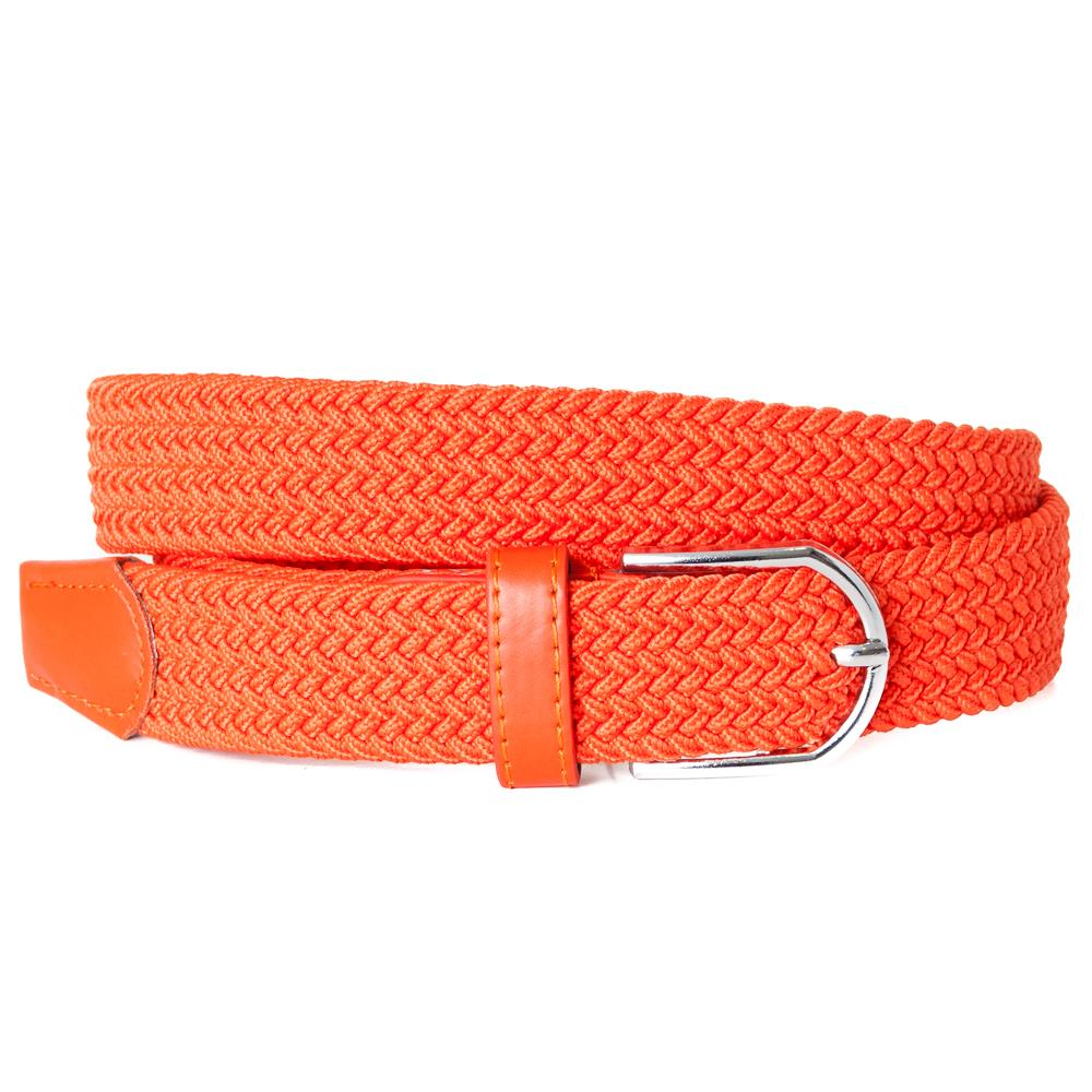 Belt, elastic braided orange