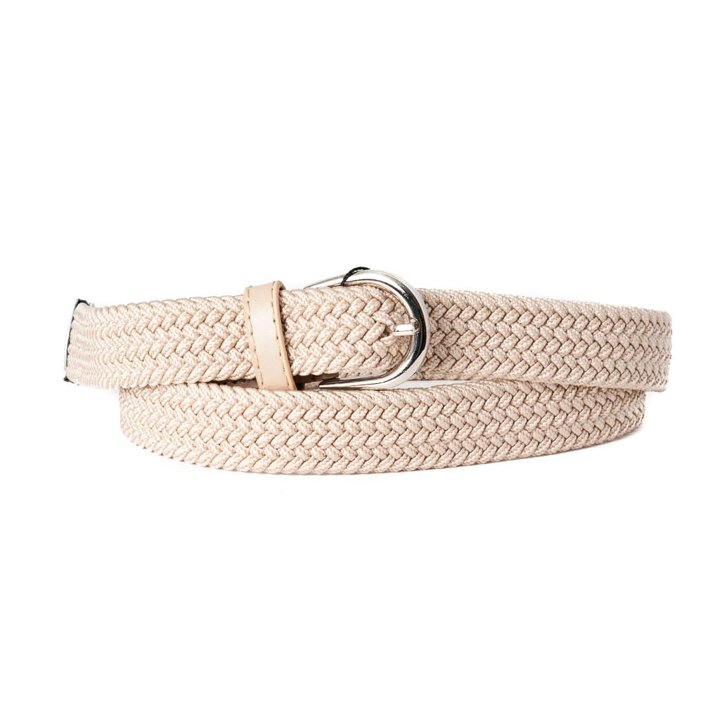 Belt, small elastic  beige
