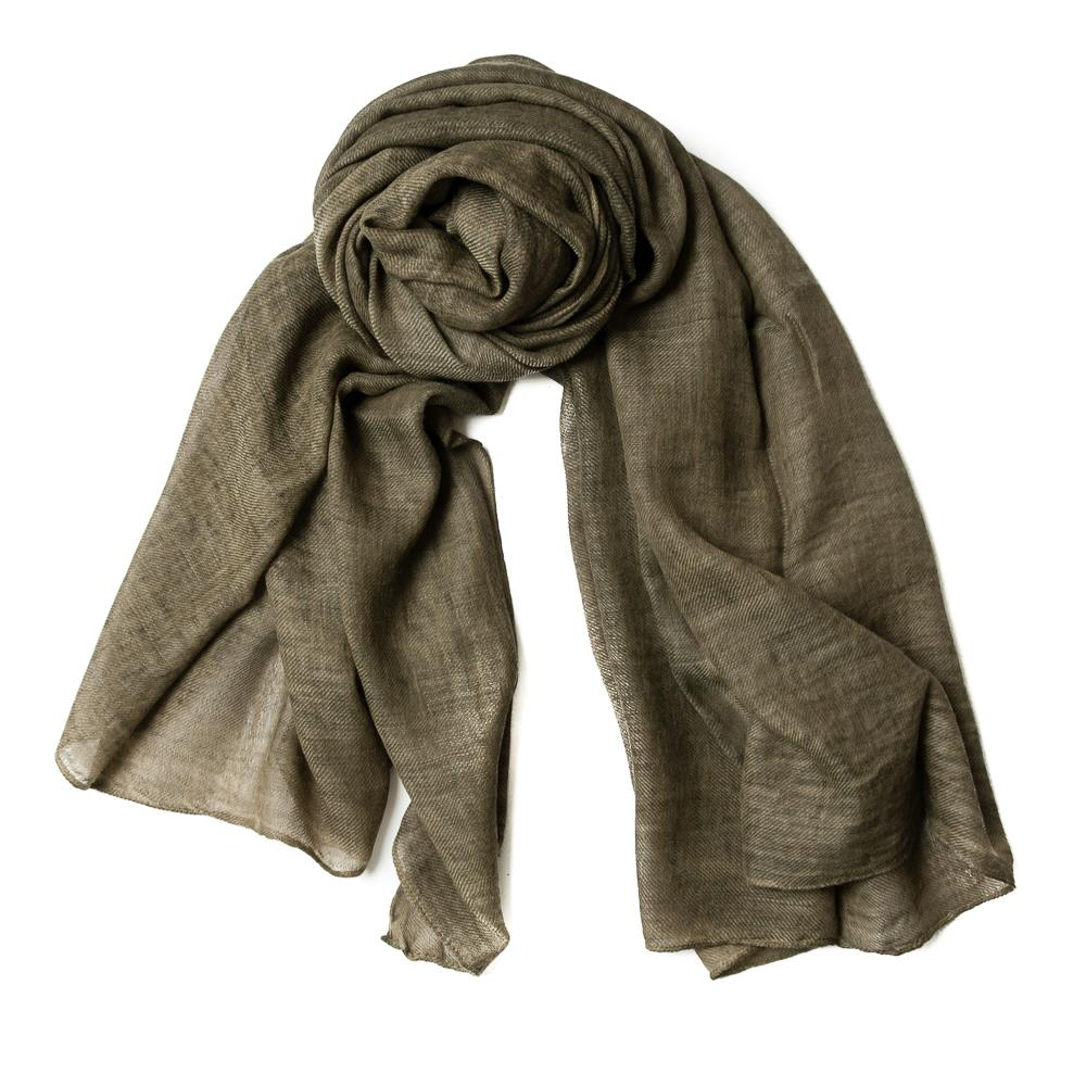 Scarf solid colored stone washed wool