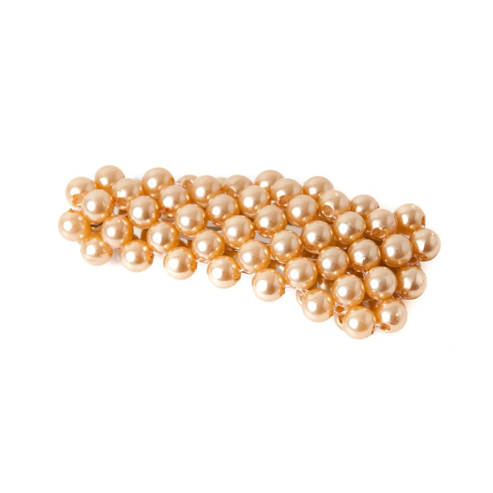 Hairclips, arrow pearl champagne