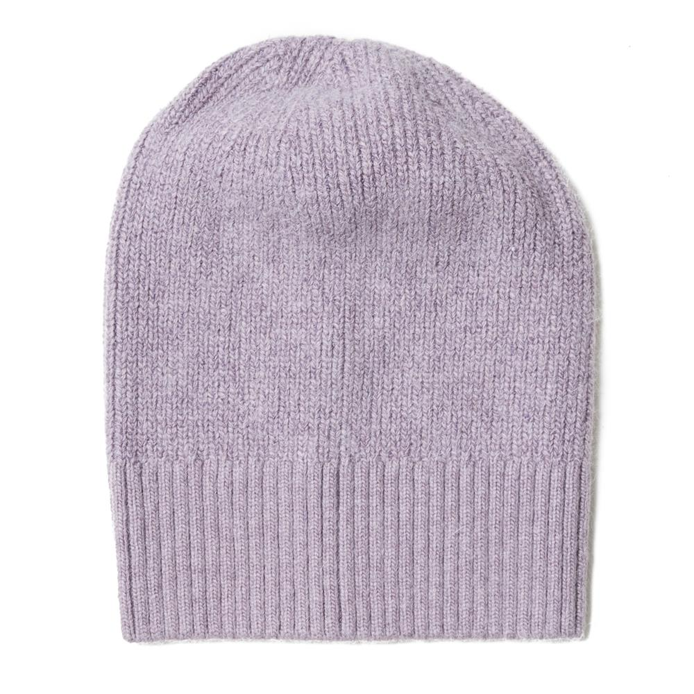 Hat, knitted wool plain lavender