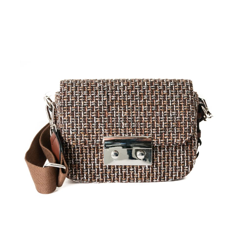 Bag, tweed clutch brown