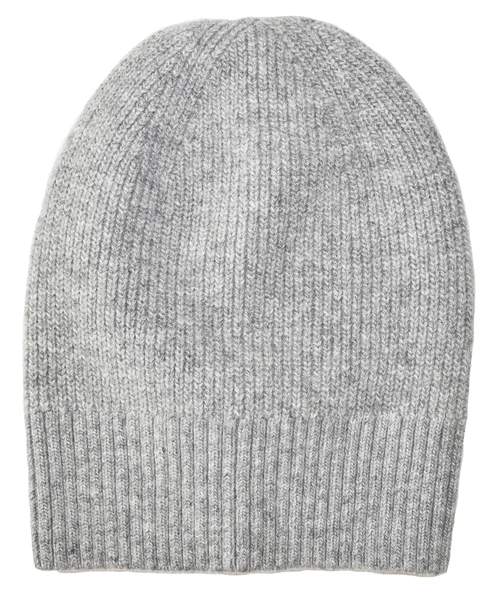 Hat, knitted wool plain grey