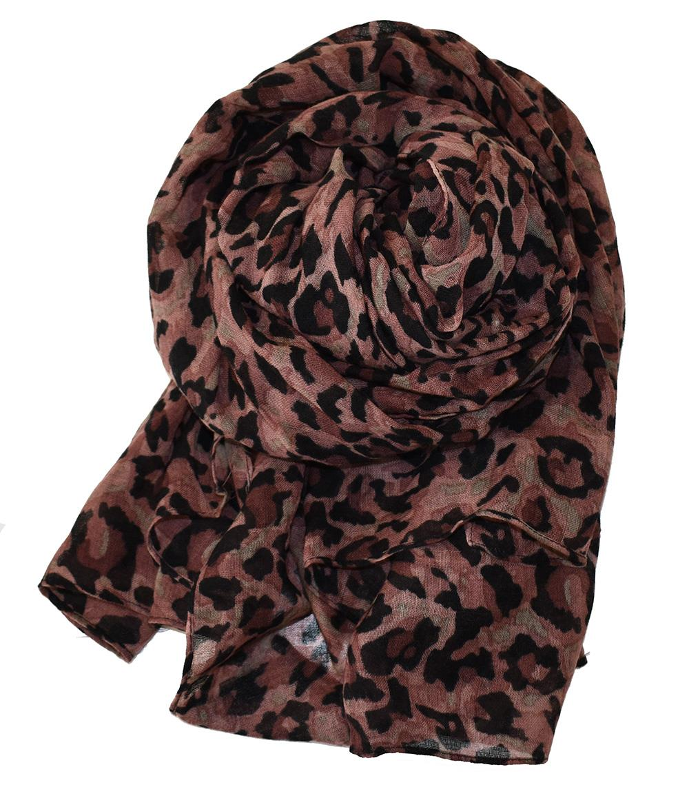 Scarf animalprinted wool