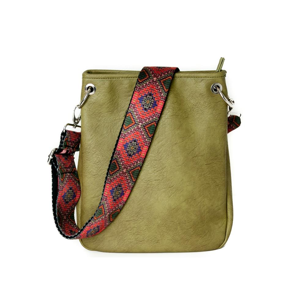 Bag, Darma small crossbag with ribbon army