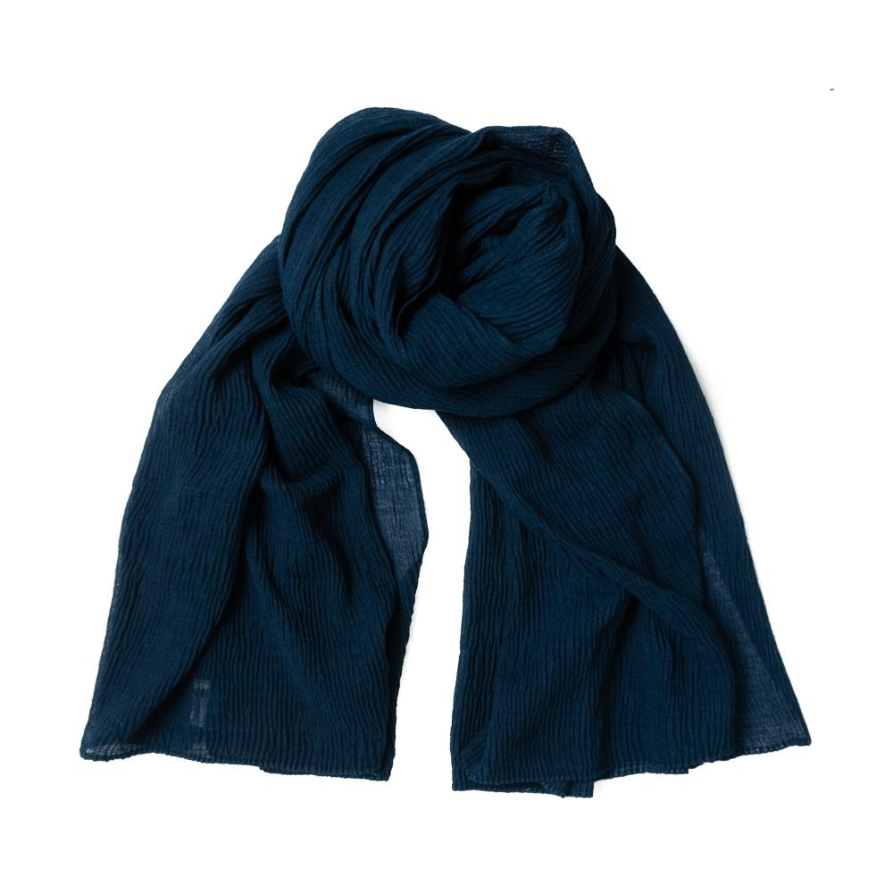 Scarf, viscose mix navy