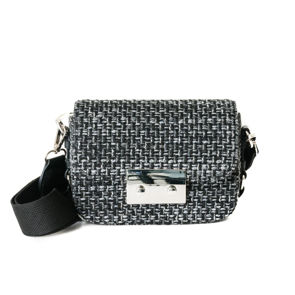 Bag, tweed clutch black