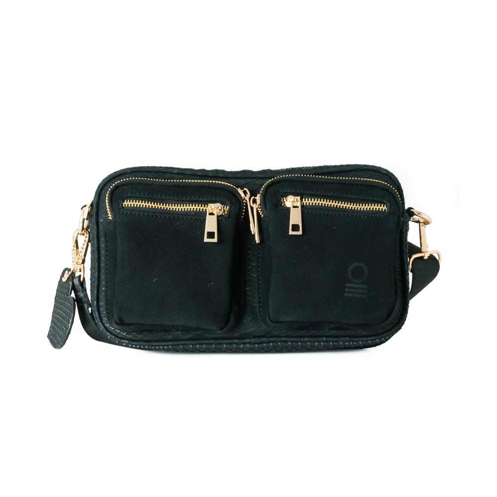 Bag, small snake zipper cross black
