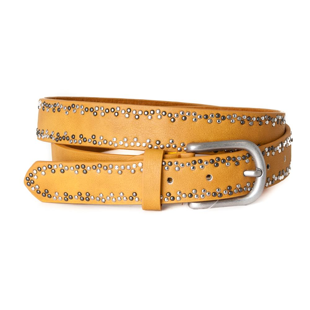 Belt, with rivets pattern Dk.Yellow+