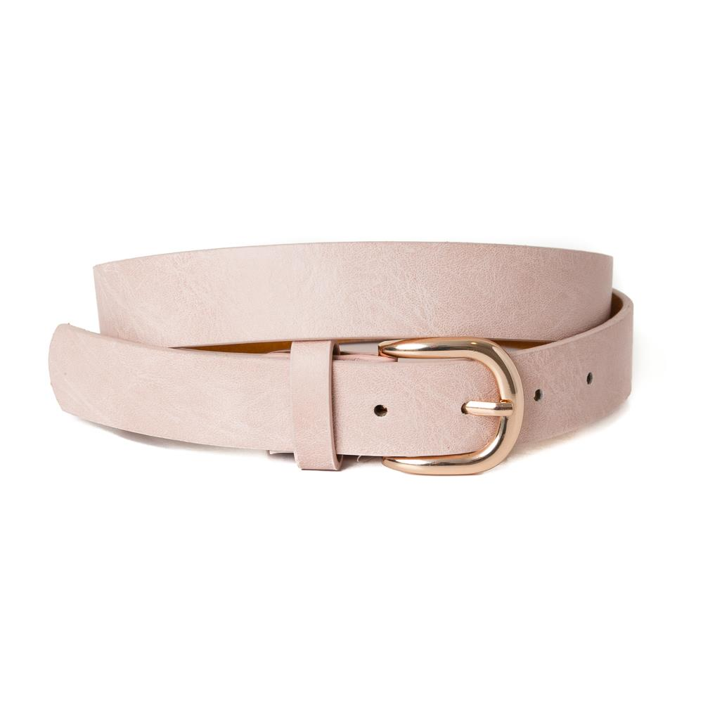 Belt, Plain with gold buckle Dusty Pink