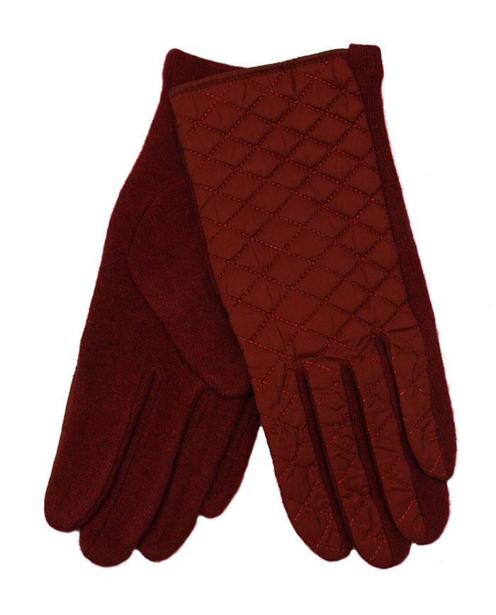 Gloves, poly front w waffel stitches wool glove