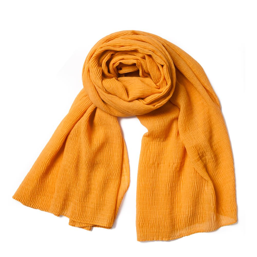 Scarf, viscose mix Mustard
