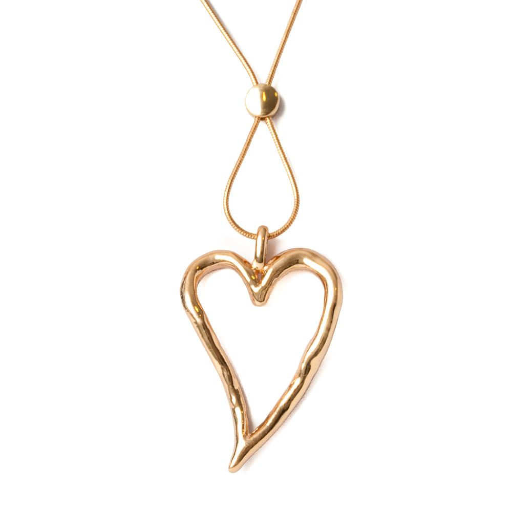 Necklace, sigle heart gold