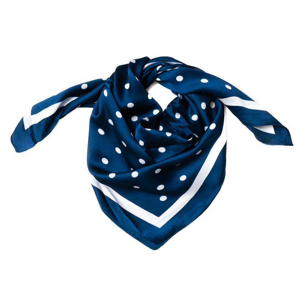 Scarf , small with dots navy