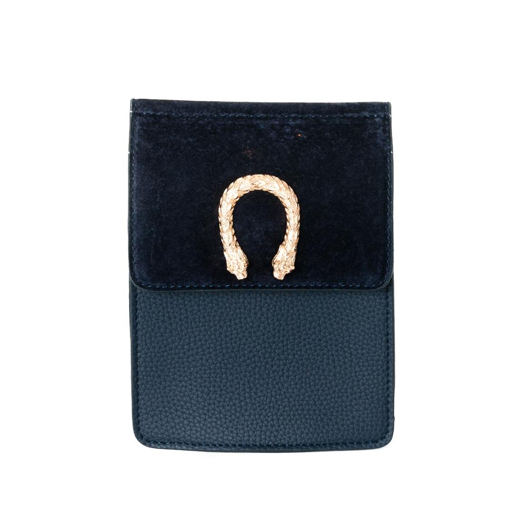 Bag, small snake buckle clutch navy