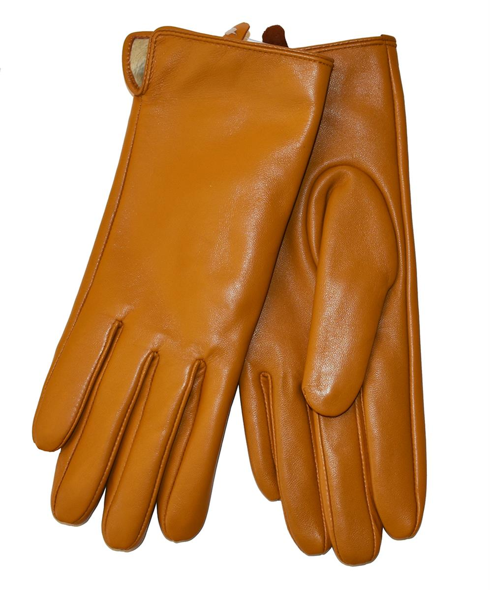 Gloves, leather plain