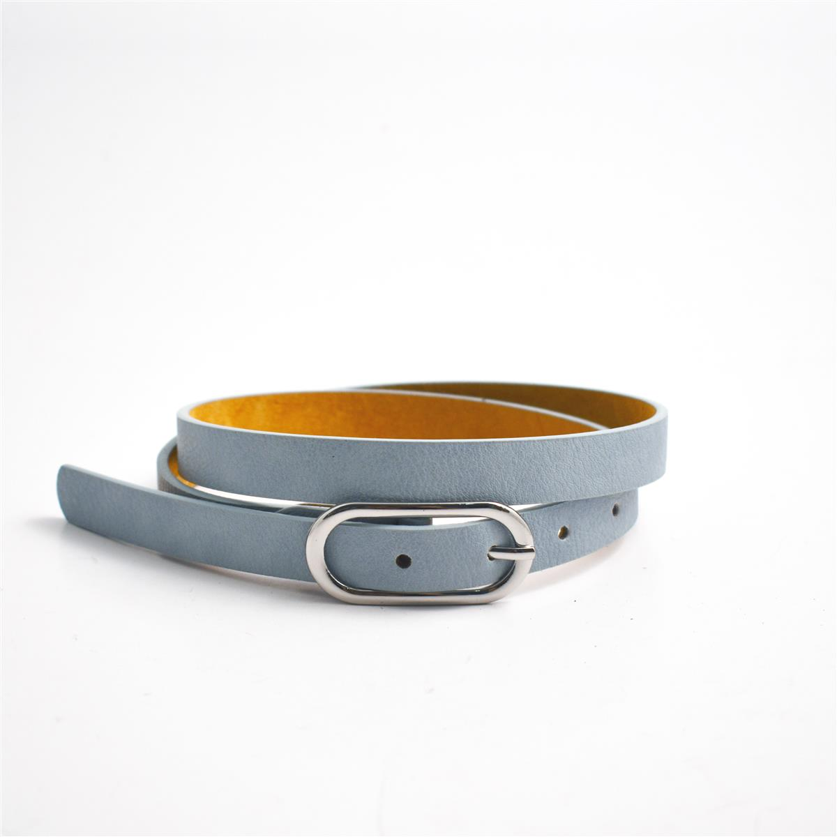 Belt, Oval buckle, Lt blue