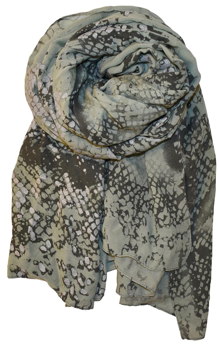 Scarf, Animalprint with foil army