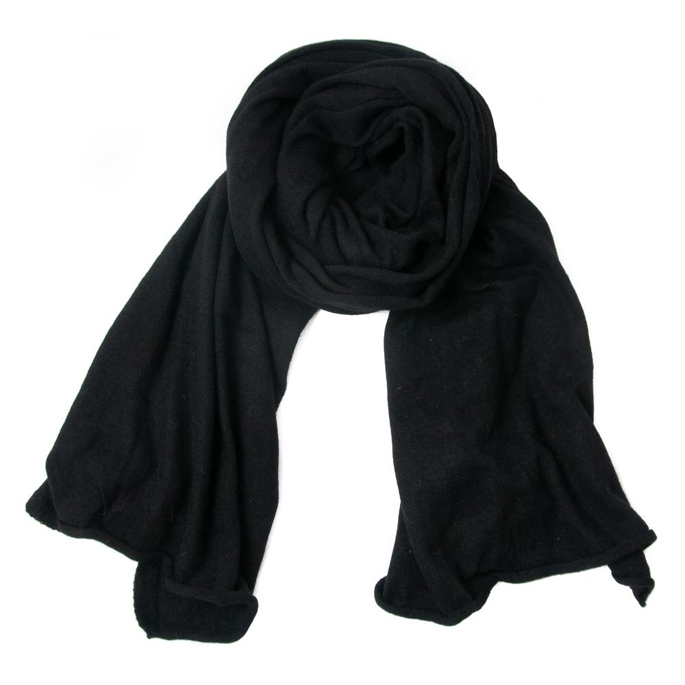 Scarf, knitted wool black