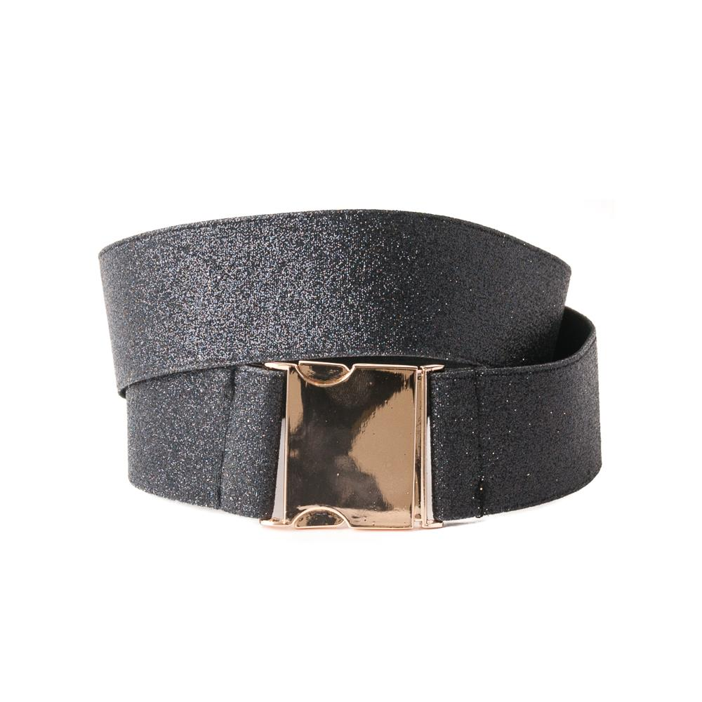 Belt, Elastic ribbon with lurex black