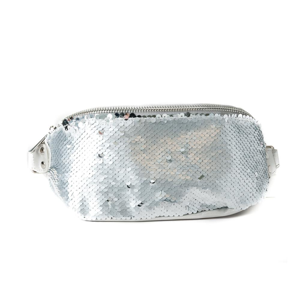 Bag, Bumbag big sequinces lt grey