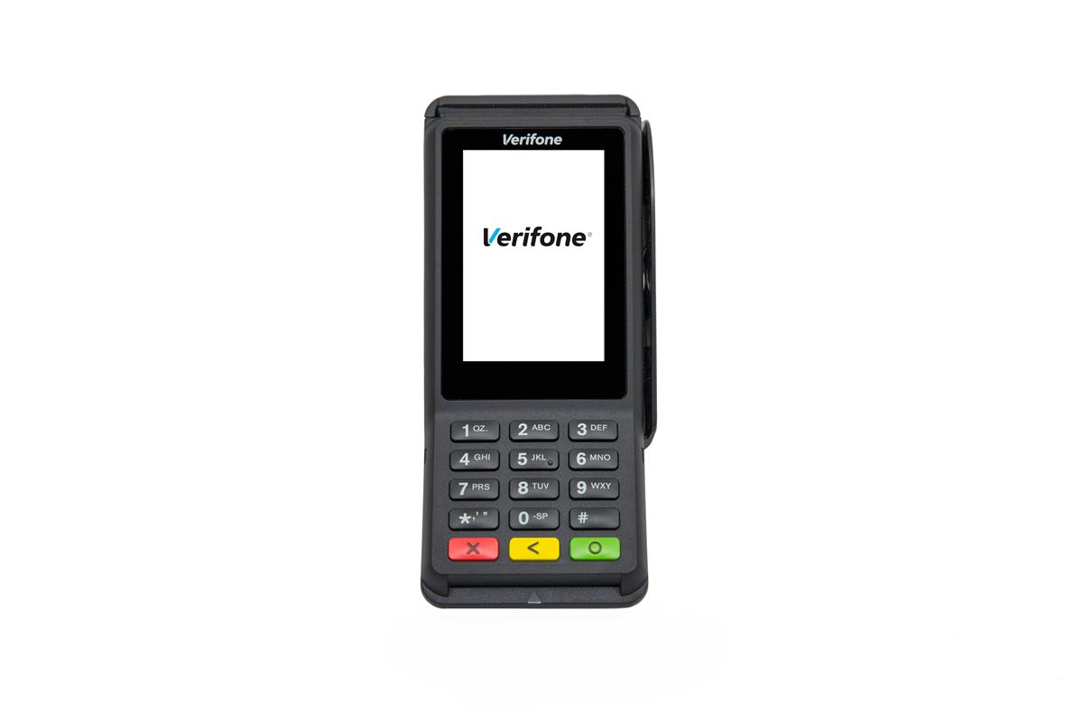 Verifone P400 betalingsterminal+ethernet dongle og power