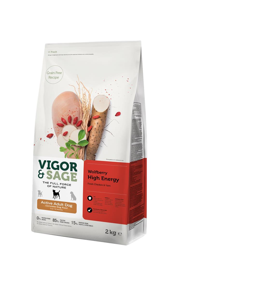 Wolfberry High Energy for Active Regular Adult Dog 2KG
