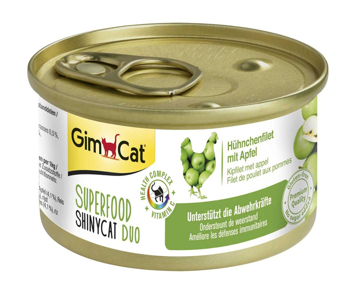 GimCat Superfood ShinyCat Duo Kyllingfilet med Eple